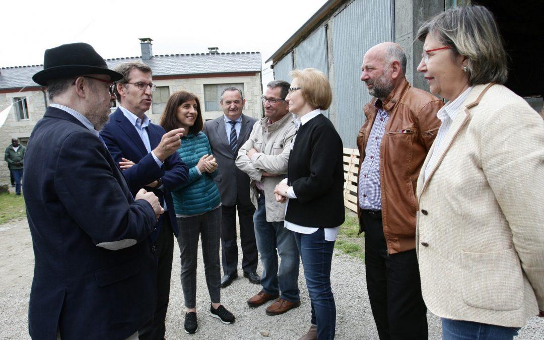 Feijoó presenta en Abadín un plan para impulsar la agricultura ecológica