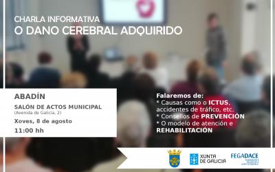 O Concello de Abadín e a Federación Galega de Dano Cerebral (FEGADACE) organiza unha charla-informativa