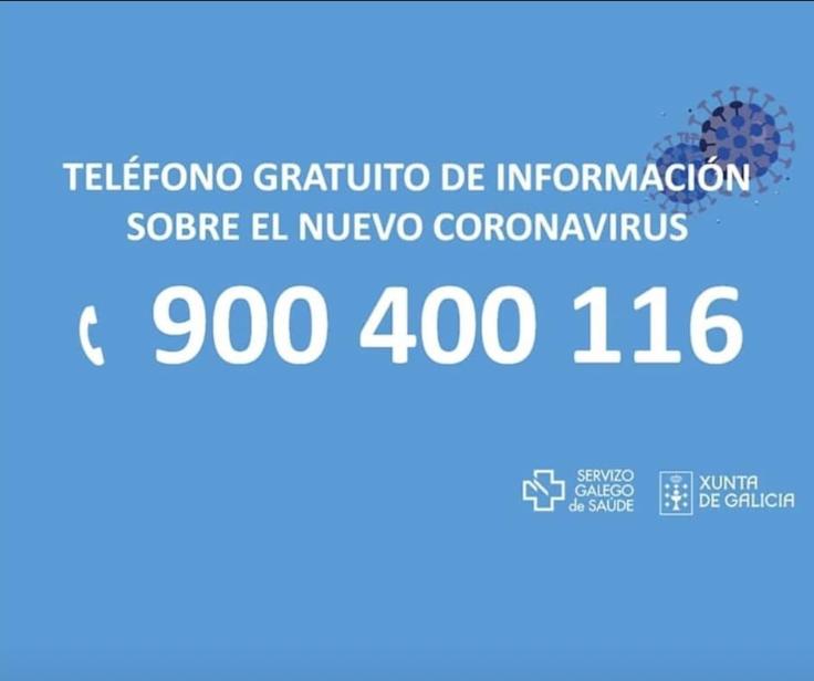 CORONAVIRUS: Teléfono gratuito de información