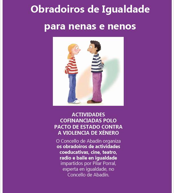Obradoiros de igualdade para nenas e nenos